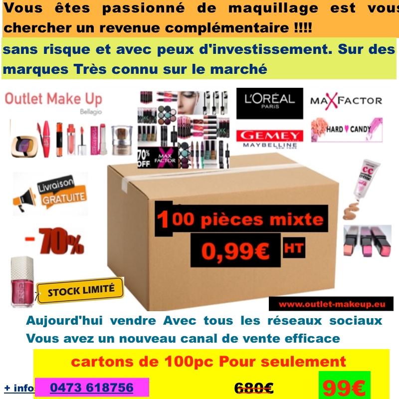 469272b15b001a L Oreal,Maybelline, HC Sephora, Max Factor déstockage cartons de 100 ...