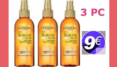 L'Oreal Paris Sublime Sun Advanced Sunscreen Oil Spray (PACK DE 3)